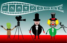 Free Magician And Clown Filming Royalty Free Stock Images - 6059939