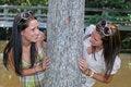 Free Peeking Around A Tree Stock Photo - 6060340