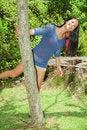 Free Swinging Around A Tree Royalty Free Stock Photography - 6060537