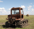 Free Old Tractor On A Hayfield Royalty Free Stock Images - 6067599
