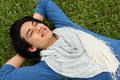 Free Man Laying On The Grass Stock Photography - 6068182