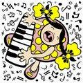Free Piano Baby Stock Image - 6068281