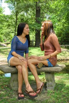 Free Talking In The Park Royalty Free Stock Photo - 6060465
