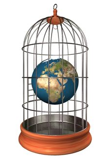Earth In Cage Royalty Free Stock Photos