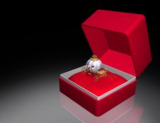 Free Cinderella Gift Box Royalty Free Stock Photography - 6060567