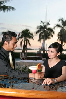 Free Couple At Bar Stock Photography - 6060712