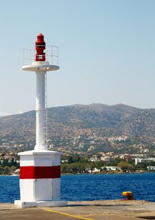 Free Lighthouse In Harbor Of St. Nicolas Stock Photography - 6061142