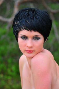 Free Portrait Young Beautiful Woman Stock Image - 6061631