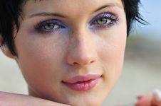 Free Portrait Young Beautiful Woman Royalty Free Stock Photo - 6061705