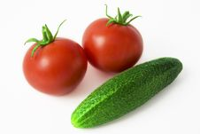 Free Tomatoes And Cucumber Stock Image - 6061711