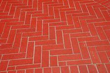 Herringbone Pattern In Bricks Royalty Free Stock Images