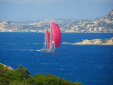 Red Sails Yacht Stock Photos