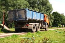 Free Orange Dump Truck Stock Photo - 6062110