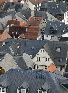 Free Roof Tops Of Marburg Royalty Free Stock Images - 6062709