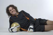 Free Smiling Soccer Player - Horizontal Stock Photos - 6063243