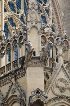 Free Cathedral St Etienne Details Royalty Free Stock Images - 6063989