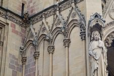 Free Cathedral St Etienne Details Royalty Free Stock Photos - 6063998