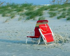 Free Beach Chairs Royalty Free Stock Image - 6064676