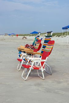 Free Beach Chairs Stock Photo - 6064680