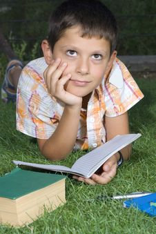 Free Boy Doing  Home Work Stock Photo - 6064780