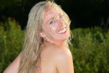 Free Wet Blonde Stock Photography - 6064862