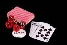 Free Playing Cards And Dice Royalty Free Stock Photography - 6065117