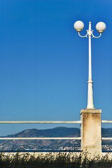 Street Lamp On Sea Promenade Stock Photography