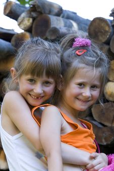 Free Happy Little Sisters Stock Photo - 6065830