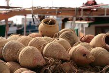 Fishing Pots Stock Photos