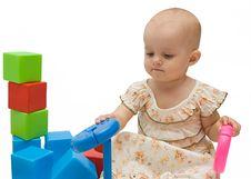 Free Babygirl Playing Stock Photos - 6066223