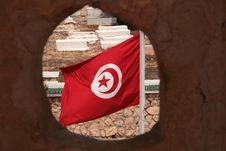 Free Tunisian Flag Royalty Free Stock Image - 6066416