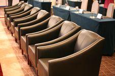 Row Of Sofa Chairs Stock Photo