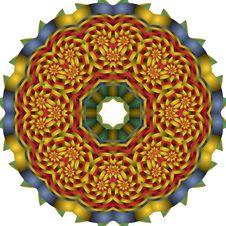 Free Pretty Floral Mandala Ring Royalty Free Stock Photos - 6067498