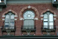 Free Three Windows At Plant Hall Stock Image - 6068081