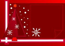 Free Christmas Design With Tree And Snowflakes Royalty Free Stock Images - 6068259
