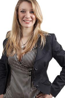 Beautiful Blonde Businesswoman Stock Photo
