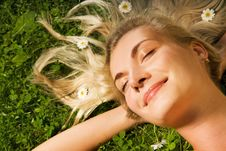 Free Woman Relaxing On A Meadow Royalty Free Stock Image - 6068556