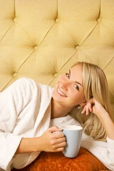 Free Girl Drinking Coffee Stock Photography - 6068632