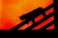 Free Cat Silhouette Royalty Free Stock Photo - 6068985