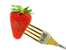 Free Strawberry And Fork Royalty Free Stock Photo - 6069175
