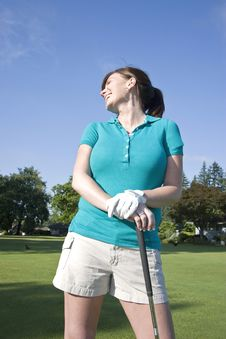 Free Woman Standing On Golf Course - Vertical Stock Photos - 6069283