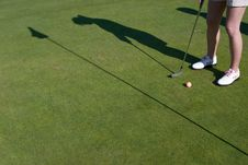 Free Golfer S Shadow - Horizontal Stock Images - 6069394
