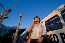 Free Woman On Cellphone Looking Surprised - Horizontal Stock Photos - 6069613