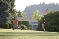 Free Couple Playing Golf - Horizontal Royalty Free Stock Image - 6069636