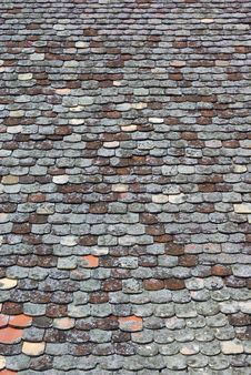 Free Mossy Tiled Roof Royalty Free Stock Photo - 6069955