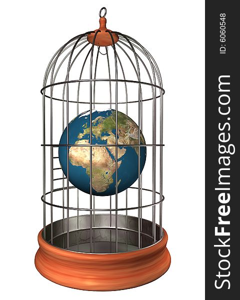 Earth in cage