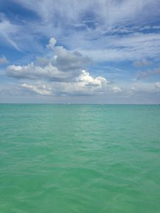 Free Ocean Skyline At South Beach, Miami. Stock Photography - 60693332