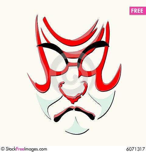 kabuki mask template - pin mask kabuki opera on pinterest