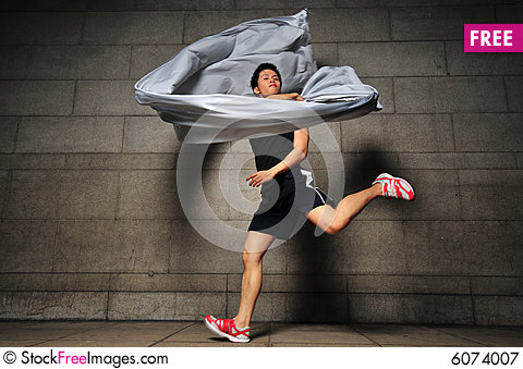 Free Man In Motion 5 Royalty Free Stock Photography - 6074007