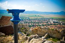 Free Panoramic View Of Rural Romanian Town Stock Image - 6070061